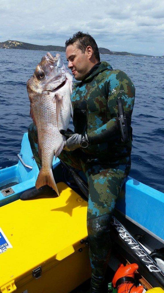 Spearfishing snapper queensland. Kosta Papadatos