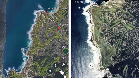 google satellite and aerial images of California