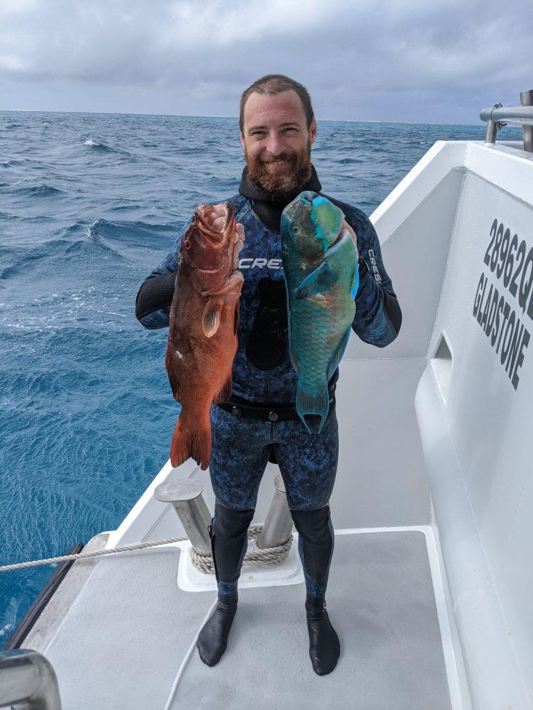 Joel Flint Spearfishing Southern Great Barrier Reef