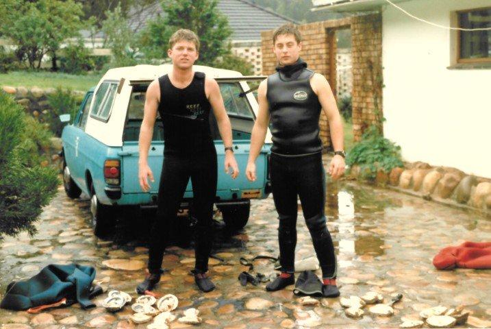 Bert and Garth in Houtbay