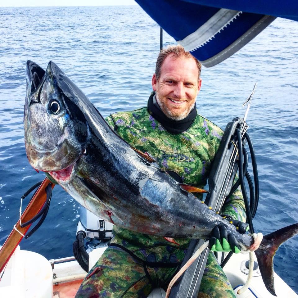 Bret Whitman with a tuna
