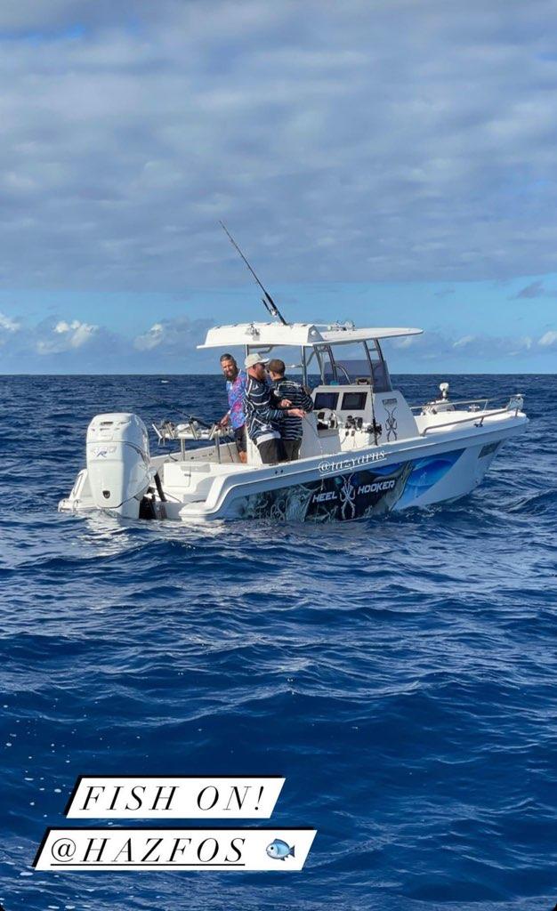 Tony on his boat