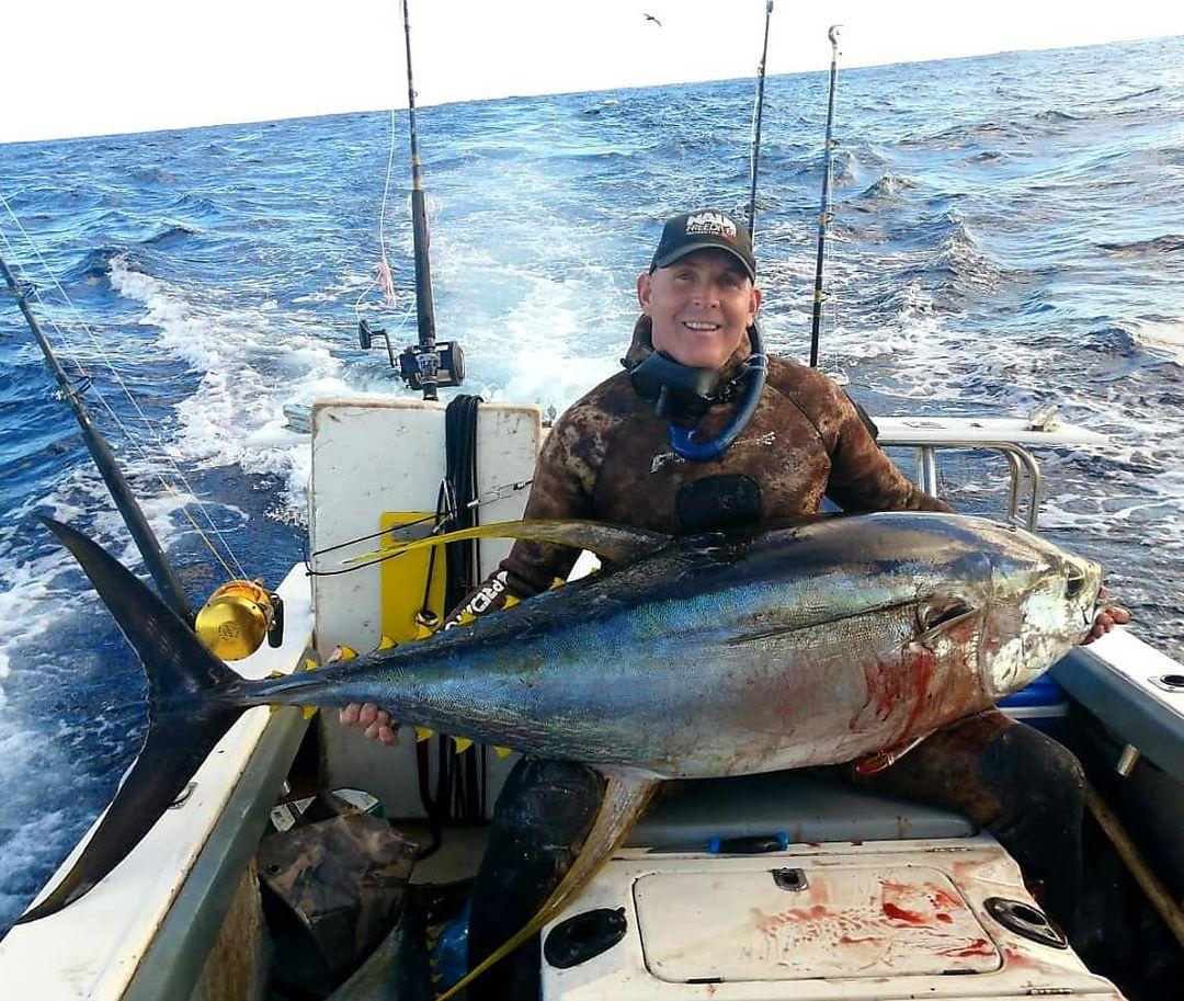Derek and a tuna