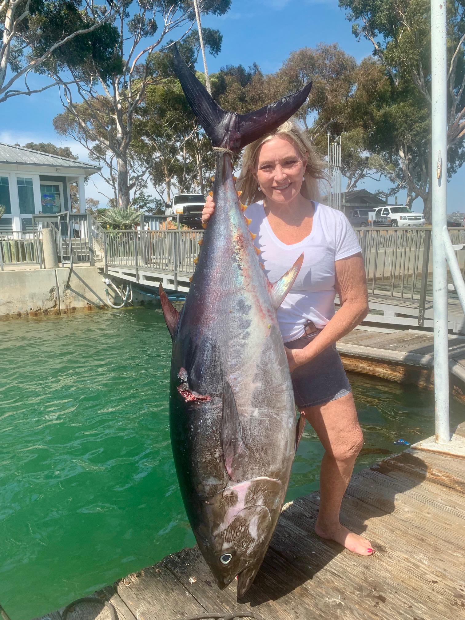 lisa and a big tuna